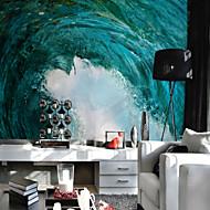 billige Tapet-Art Deco 3D Landskap Hjem Dekor Vintage Tapetsering, Lerret Materiale selvklebende nødvendig Veggmaleri, Tapet