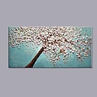 billiga Blom-/växtmålningar-Hang målad oljemålning HANDMÅLAD - Blommig / Botanisk Modern Duk