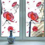 Floral Adesivo de Janela,PVC/Vinil Material Decoração de janela