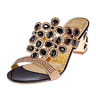 Women's Sandals Comfort Summer PU Casual Gold Black Blue Flat