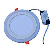 cheap LED Ceiling Lights-JIAWEN 18W 90 LEDs Decorative LED Panel Lights Cold White Blue AC85-265