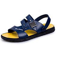 Herre PU Sommer Komfort Sandaler Sort / Blå / Mørkebrun