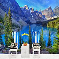 billige Tapet-Veggmaleri Lerret Tapetsering - selvklebende nødvendig Tre Natur og landskap