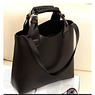 Women Bags All Seasons PU Tote for Casual Outdoor Black Brown