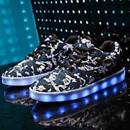 Poikien Lenkkitossut Comfort Välkkyvät kengät Tyll PU Kevät Kesä Syksy Talvi Kausaliteetti Kävely Comfort Välkkyvät kengät Solmittavat LED