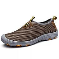 お買い得  ウォーキング-男性用 靴 チュール 夏 コンフォートシューズ アスレチック・シューズ ウォーキング のために スポーツ アウトドア グレー Brown ネービーブルー