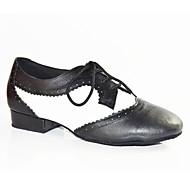 """זול נעליים לטיניות-גברים לטיני עור פטנט שטוחות הופעה שחבור שחור- לבן 2 ס""""מ מותאם אישית"""