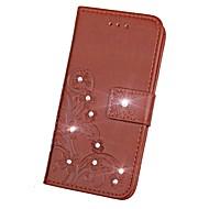 billiga Mobil cases & Skärmskydd-fodral Till Sony Z5 / Sony Z4 / Sony Xperia Z3 Plånbok / Korthållare / Strass Fodral Enfärgad Hårt PU läder för Sony Xperia Z2 / Sony Xperia Z3 / Sony Xperia Z3 Compact / Sony Xperia XA
