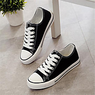 Women's Shoes Canvas PU Spring Comfort Sneakers For Casual Black Red
