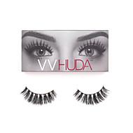 VVHUDA 3D Mink LASHES False Eyelashes Eyes Natural Fiber Black Criss-crossed High Quality Daily Makeup Beauty Collection Sophia