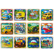 cheap -Jigsaw Puzzle Wooden Puzzles Pegged Puzzles Wood Model Educational Toy Square Wooden Wood 1-3 years old 3-6 years old