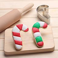 billige Bakeredskap-christmas candy cane kaker cutter rustfritt stål kjeks kake mold kjøkken baking verktøy