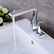 halpa -Integroitu Keraaminen venttiili Yksi reikä Kromi , Kylpyhuone Sink hana