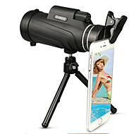 50X52 Monocular Telescope Lens  Clip  Tripod HD Travel Universal For Mobile Phones