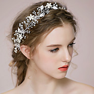 Umjetno drago kamenje Legura Trake za kosu Šeširi Lanac glave Alat za kosu with Cvjetni print 1pc Vjenčanje Special Occasion godišnjica