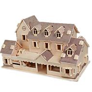 3D-puslespil Puslespil Træmodeller Modelbyggesæt Berømt bygning Hus GDS Træ Klassisk Unisex Gave
