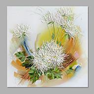 Kézzel festett Virágos / Botanikus Függőleges,Absztrakt Modern/kortárs Egy elem Vászon Hang festett olajfestmény For lakberendezési