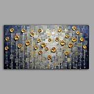 billiga Blom-/växtmålningar-Hang målad oljemålning HANDMÅLAD - Blommig / Botanisk Abstrakt Parfymerad Duk