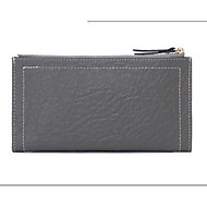Women Bags All Seasons Cowhide Checkbook Wallet for Casual Gray Aquamarine Red