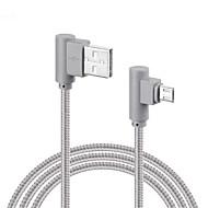 Micro USB Gevlochten Snelle kosten Kabel Voor Samsung Huawei Sony LG Lenovo Xiaomi cm Nylon