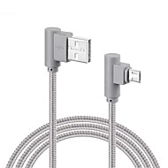 Micro USB Fonott Quick Charge Kábel Kompatibilitás Samsung Huawei Sony LG Lenovo Xiaomi cm Műanyag