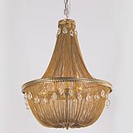 billige Takbelysning og vifter-Ecolight™ 8-Light Anheng Lys Omgivelseslys Antikk Bronse Metall Krystall, designere 110-120V / 220-240V Pære ikke Inkludert