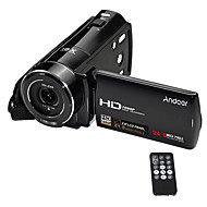 cheap CCTV Cameras-Andoer®HDV-V7 1080P Full HD Digital Video Camera Camcorder Max. 24 Mega Pixels 16 Digital Zoom with 3.0 Rotatable LCD Screen Support Face Detection