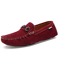 cheap Small Size Shoes-Men's Shoes PU Fleece Spring Summer Light Soles Loafers & Slip-Ons for Casual Black Gray Blue Burgundy