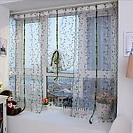 Blyant Plissert Window Treatment Blomst Parfymert , Broderi Stue Materiale Gardiner Skygge Hjem Dekor For Vindu
