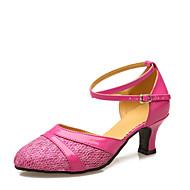 billige Moderne sko-Dame Moderne sko Kustomiserte materialer / Kunstlær Høye hæler Tvinning Kustomisert hæl Kan spesialtilpasses Dansesko Lilla / Fuksia /