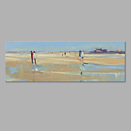 IARTS® Hand Painted Modern Abstract Seaside Stroll Oil Painting On Canvas with Stretched Frame Wall Art For Home Decoration Ready To Hang