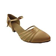 """billige Moderne sko-Dame Moderne Silke Sandaler Ytelse Tvinning Tykk hæl Kamel 1 """"- 1 3/4"""" Kan spesialtilpasses"""