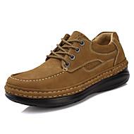 baratos Sapatos Masculinos-Unisexo Sapatos formais Pele Napa Outono / Inverno Oxfords Preto / Castanho Claro / Festas & Noite