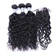 Tissages de cheveux humains Cheveux Brésiliens Ondulation Naturelle Plus d'Un An 4 tissages de cheveux