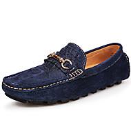 للجنسين أحذية فرو ظبي صيف خريف موكاسين المتسكعون وزلة الإضافات إلى فضفاض الحفلات و المساء أسود أزرق داكن رمادي