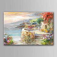 billiga Landskapsmålningar-Hang målad oljemålning HANDMÅLAD - Landskap Modern Utan innerram