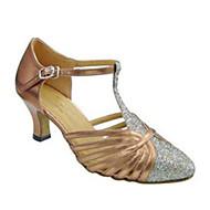 """billige Moderne sko-Dame Moderne Glitter Sandaler Ytelse Spenne Kubansk hæl Svart Mandel 2 """"- 2 3/4"""" Kan spesialtilpasses"""