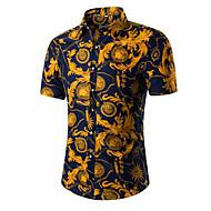 男性用 シャツ レギュラーカラー ソリッド コットン