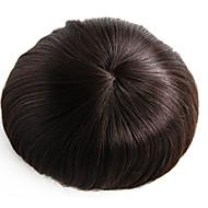8x10 inç mens toupee peruk mono temel saç parça # 3 saç toupee-6 inç insan saçı