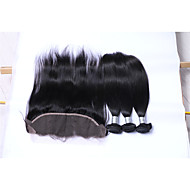 Natural Color Hair Weaves Brazilian Texture Straight More Than One Year Four-piece Suit hair weaves