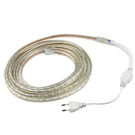 1M 5050 LED Strip Light Waterproof Outdoor IP67 60leds/m Flexible Tape Rope /Warm White /White /Red /Yellow /Blue/ Green and US/EU Plug(AC 220V-240V)