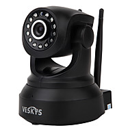 Veskys® 720p hd wi-fi ip caméra w / 1.0mp téléphone intelligent surveillance à distance support sans fil 64gb tf carte