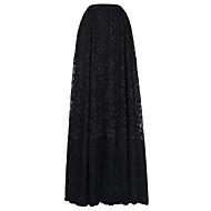 女性用 ストリートファッション ビーチ お出かけ 祝日 Aライン コットン スカート - ソリッド