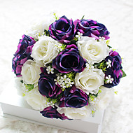 billige Kunstige blomster-1 Gren Polyester Roser Bordblomst Kunstige blomster