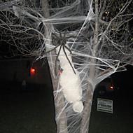 Teia de aranha extensível de 1pcs com aranha para decoração de festa de Halloween