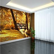 billige Tapet-Trær / Blader 3D Klassisk Hjem Dekor Pastorale Stilen Moderne / Nutidig Tapetsering, Lerret Materiale selvklebende nødvendig Veggmaleri,