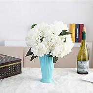 2 Peças 2 Ramo Seda Poliéster Peônias Flor de Mesa Flores artificiais