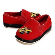 tanie Obuwie dziewczęce-Dla dziewczynek Buty Wyczeski Zima Jesień Wulkanizowane buty Mokasyny i pantofle Haft nakładany Gore na Casual Formalne spotkania Czerwony