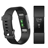 billiga Smart klocka Tillbehör-Klockarmband för Fitbit Charge 2 Fitbit Sportband Fluroelastomer Handledsrem