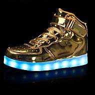 billiga LED Skor-Pojkar Skor Konstläder Höst Vinter Lysande skor Komfort Sneakers Promenad LED Krok och ögla för Sport Casual Utomhus Guld Vit Svart